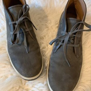 Vince Chukka Grey Suede Boot